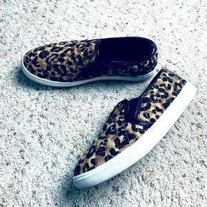 Leopard Print Slip On Loafers